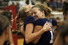 """<div class=""""source"""">Jesse Osbourne</div><div class=""""image-desc"""">Senior Rosanna Scott, left, and senior Kenna Smith, right, embrace while celebrating the MCHS Lady Knights first district title since 2004 on Tuesday night at Taylor County High School.</div><div class=""""buy-pic""""><a href=""""/photo_select/5967"""">Buy this photo</a></div>"""
