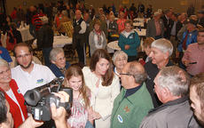 "<div class=""source"">Stephen Lega</div><div class=""image-desc"">Secretary of State Alison Lundergan Grimes, who is running for the U.S. Senate, chats with supports following a Sunday evening rally at Centre Square.</div><div class=""buy-pic""><a href=""/photo_select/38058"">Buy this photo</a></div>"