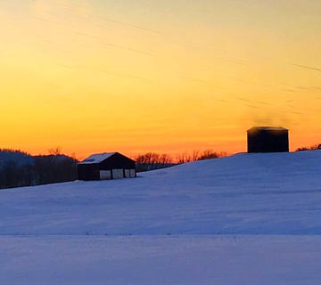 Pictured is a beautiful sunset behind Steve and Tina Bramel's house on Wards Branch Road. Photo submitted by Tina Bramel.