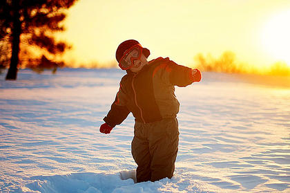Ryder Jordan, 3, has some fun in the snow. Photo submitted by Angela Espinoza.