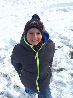 Kaysen Jaeger, 7, enjoys the snow. Photo submitted by Mary Beth Jaeger.