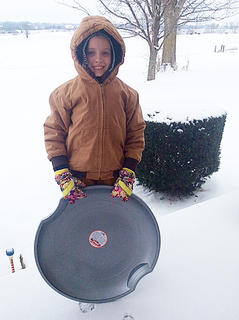 Jacklyn Farmer is bundled up and ready to play in the snow. Photo submitted by Gayla Kelly