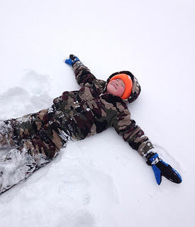 Brandon Washburn makes a snow angel. Photo submitted by his mom Tammy Washburn.