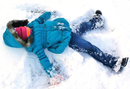 Marisha Mitchell of Gravel Switch had fun in the snow on Jan. 25. The photo was taken by her mother, Lisha Mitchell.