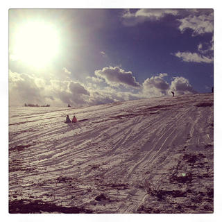 Johanna Mudd took this photo on Mudd Farm while sledding with family and friends.