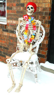 This skeleton wanted to play in the snow, according to Jessica Portman.