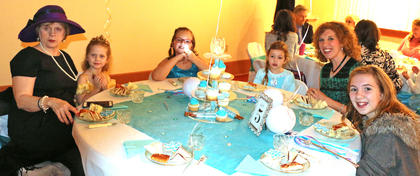 Tea party guests were treated to a variety of frozen-theme snacks and drinks at the Frozen Tea Party at Centre Square on Saturday, Feb. 17.