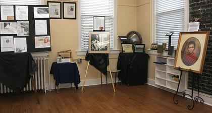 A variety of displays celebrate the accomplishments of African-Americans throughout the history of Marion County.