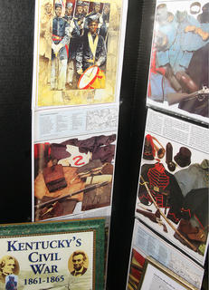 A display reminded visitors of African-Americans contributions during Civil War.