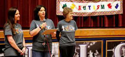 From left, Melissa Knight, Lisa Nally-Martin and her mother, Barbara Nally have been working together since 2011, and have created Working the Puzzle for Autism Inc. The first-ever autism walk in Lebanon was held on April 2, 2011, and it's continued since then. Along with countless other volunteers, they have also created an autism center in Lebanon, which opened in 2015.