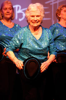 Ruby Rogan, center, is the oldest member of the LAC Energizers and proud of it at 86.