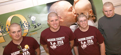 The FFA Hair Harvesters were among the handful of teams who participated in this year's St. Baldrick's event.