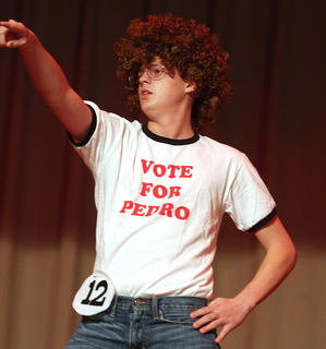 """Casey Lee performs a dance routine inspired by the movie, """"Napoleon Dynamite."""""""