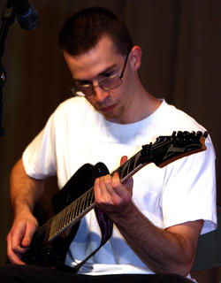 Vincent Pigati performed a guitar solo during the talent competition.