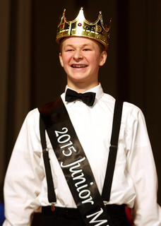Matthew Huff was crowned this year's Junior Mister.