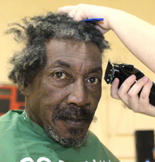 Joe Downs continues to be one of the regular St. Baldrick's shavees.