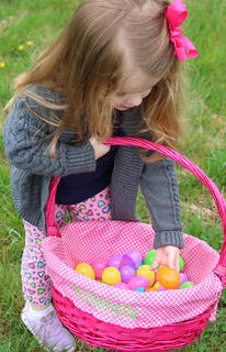 Annabelle Humphrey shows off her Easter egg treasures. The pink eggs are her favorite. She is the 2-year-old daughter of Brandi and Jeremy Humphrey.
