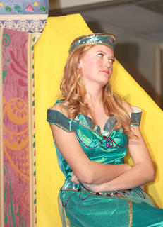 Princess Jasmine (Carly Mattingly) remains frustrated that she has no say in whom she can marry.