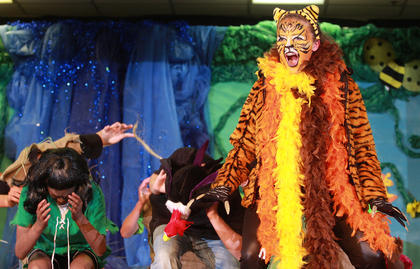 Shere Khan (Abby George) makes it clear who is really the king of this jungle.