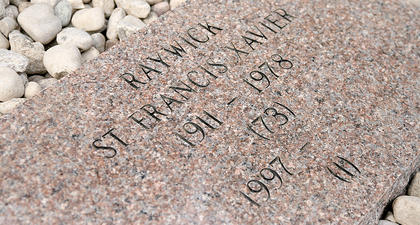 Individual stones reflect the individual's place where the Ursuline Sisters worked in Marion County, starting in Raywick.