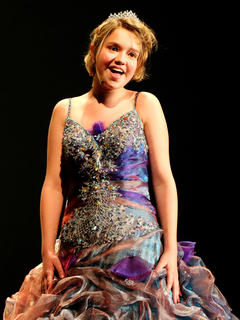 Madison Knopp plays the part of Cinderella's fairy godmother.