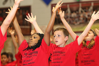 Pictured are second graders CorNya Hilliard and Cody Murphy.