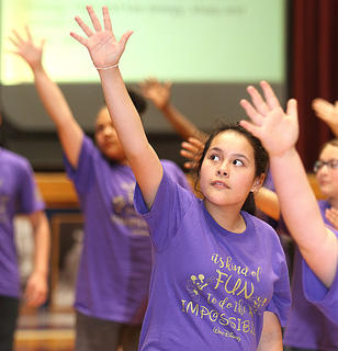 Pictured is fifth grader Olivia Ibarra.