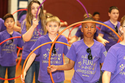 Pictured are fifth graders Brayan Flores, Ciara Brady, Leonard Rose and Evan Porter.