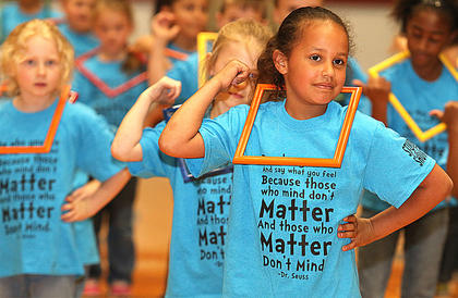 Pictured are first graders Jada Allen, Ellie Akers and Vanessa Knox.