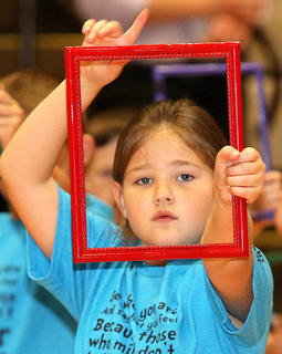 Pictured is first grader Arabella Riggs.