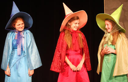 Pictured, from left, are Carrie Fowler as Merryweather, Gaubrielle Humphress as Flora and Sydney Raikes as Fauna.