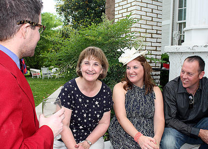 Pictured, from left, are Sean Wesley Holleran, Linda Begley, Amy Corder Bland and Brian Bland.