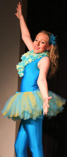 Ellie Buckman plays the part of Flounder, Ariel's best friend.
