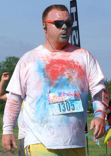 Chris Welch of Louisville said it was definitely worth the drive to participate in the Color in Motion 5K.