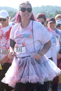 Cheryl Vermeire made the trip from Florida to run in the Color in Motion 5K.