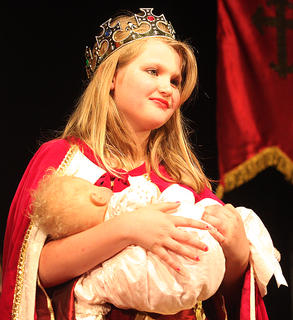 The junior cast of Disney's Sleeping Beauty Kids in Lebanon performed for audiences Friday and Saturday.Shelby Hayden plays the part of Queen Stefanie holding the baby Princess Aurora.