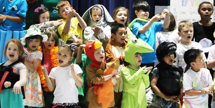 Lebanon Elementary kindergarten and first graders from Pam Mattingly, Ida Spalding and Tammy Durham's classes put on quite the show with their performance of Alphabet Action, a yearly showcase of learning.