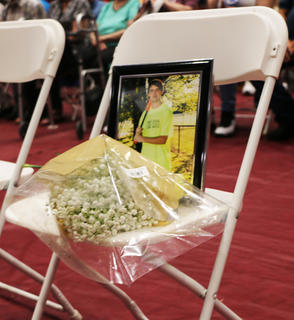 The class of 2019 paid tribute to the lives of Timothy Austin Smith and Joseph Michael Robey by leaving two chairs for them at graduation. Smith and Roby both passed away this school year in a car accident, they would have graduated alongside their class on May 25, 2019.