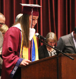 Elise Carpenter gave the invocation during the ceremony.