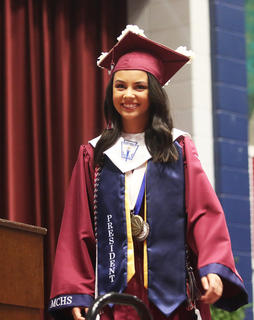 Kelly Miles, senior class president, gave the welcoming remarks and addressed her fellow classmates.