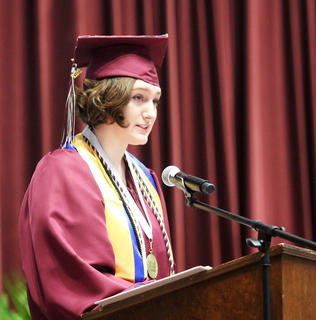 Emma Humphress, valedictorian, spoke of their journey as class throughout high school and what lies ahead for each of them.