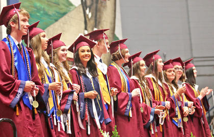 The top 11 seniors were recognized for their academic excellence during the graduation ceremony. They are: Matthew Cameron Tharp, Abby Elizabeth Scott, Lauren Alivea Peake, Kelly Miles, Ashton O'Neal Lanham, Valedictorian Emma Christine Humphress, Salutatorian Jessah Anne Hughes, Alyssa Shea Followay, Mariella Anne Curtis, Laurel Susan Brahm and Sierra Brady Bickett.