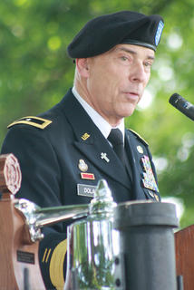 Brig. Gen. Patrick Dolan, National Guard assistant to the chief of chaplains, was the guest speaker during the program.