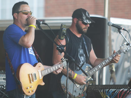 David Ford and Joey Mattingly from The Waydown perform during the Kentucky Classic Music Fest.