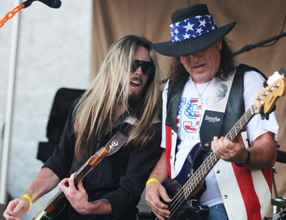 Sticktight Akins and Jeff Page bring an energetic and patriotic flair to the music festival.