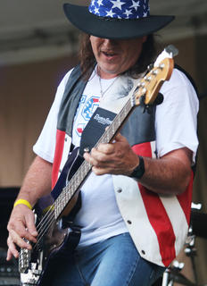 Jeff Page performed with the Sticktight Akins Band.