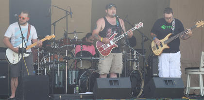 "Brian Alvey, Jake Nalley, and Chris ""Riff"" Nalley from RYPT made their grand return to the stage this past Saturday at Music Fest."