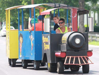 The Cartoon Express made a few trips down Main Street during Old Mill Days.