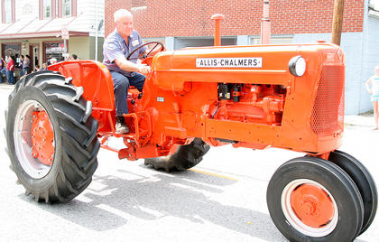 "George Donald Gribbins had the ""best tractor"" in this year's parade."