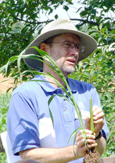 Ray Smith, a forage specialist with UK Extension Services, explains the differences between different types of forage plants.